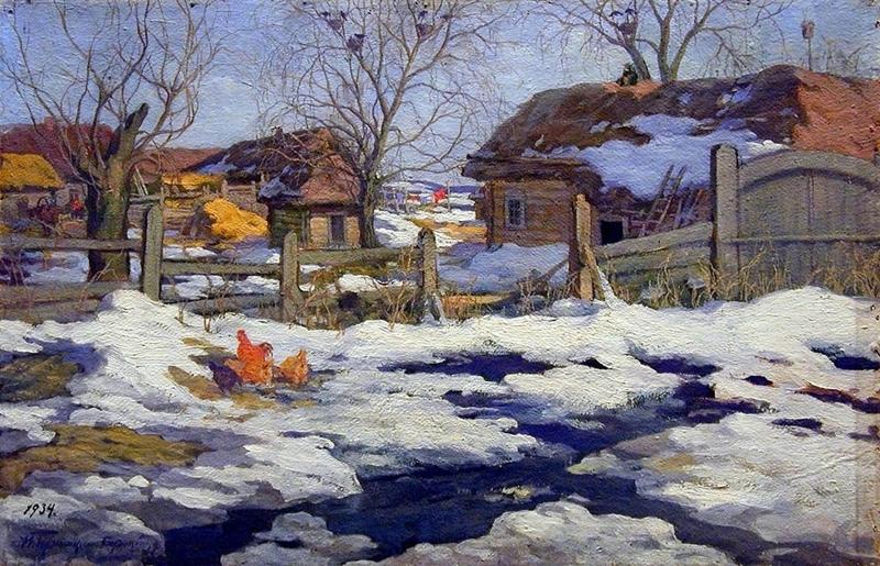 Spring Thaw by Ivan Goryushkin Sorokopudov