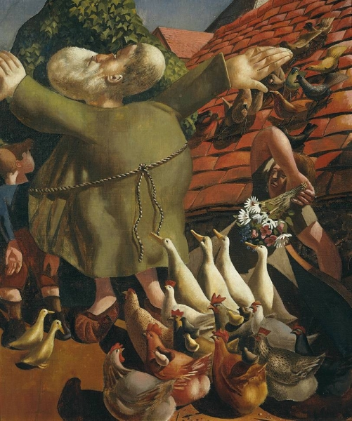 St Francis and the Birds by Sir Stanley Spencer