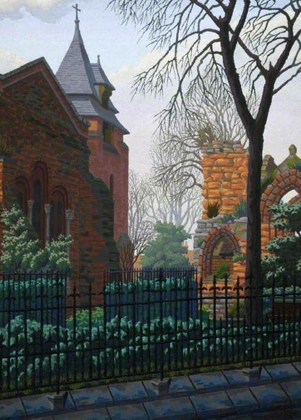 St Johns Church Chester by Charles Ginner