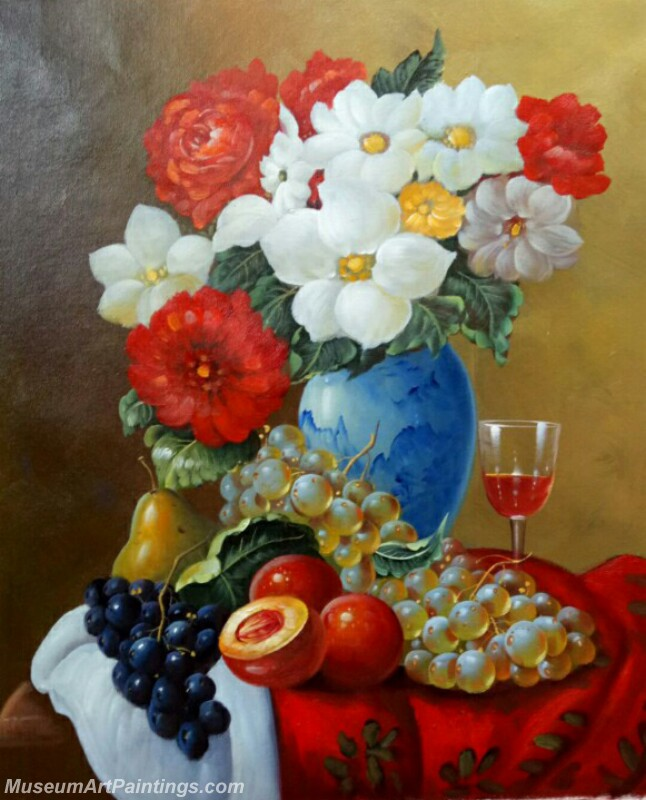 Still Life Flower Fruit Paintings MD17