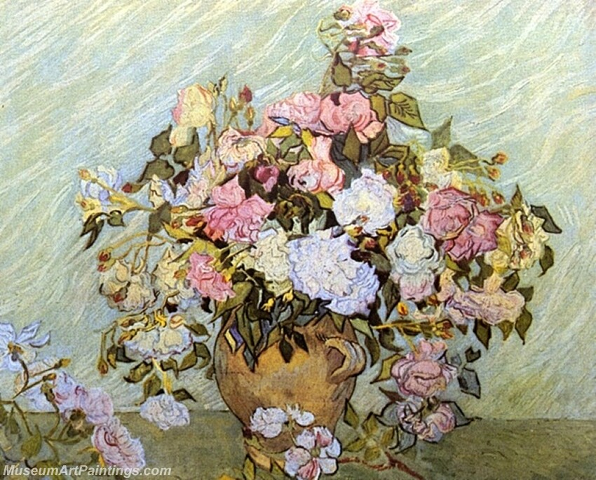 Still Life Vase with Roses Painting