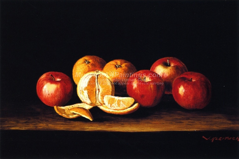 Still Life with Apples and Oranges by Joseph Kleitsch