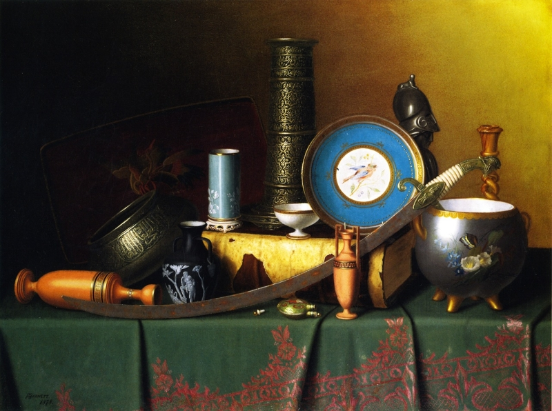 Still Life with Bric a Brac by William Michael Harnett