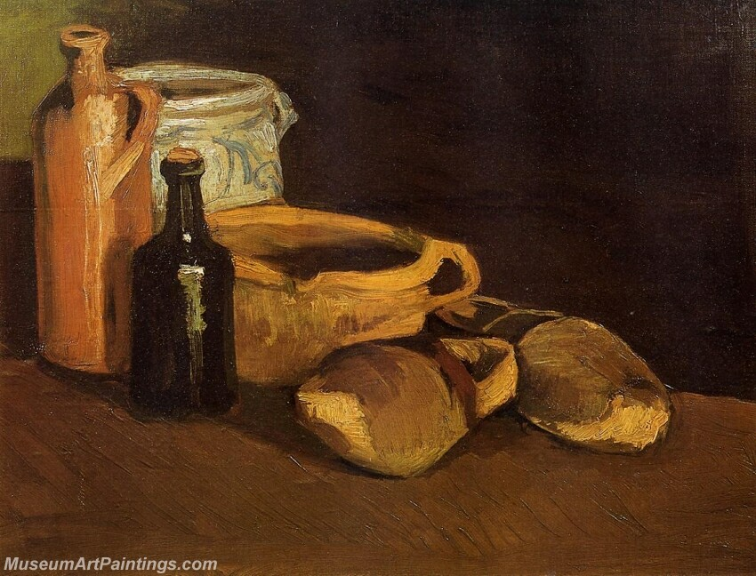 Still Life with Clogs and Pots Painting