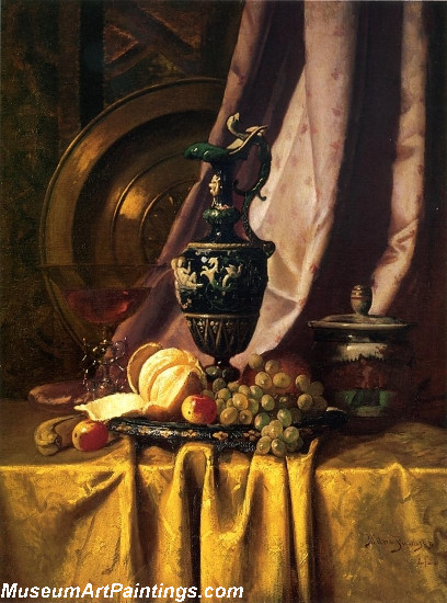 Still Life with Ewer and Fruit Painting