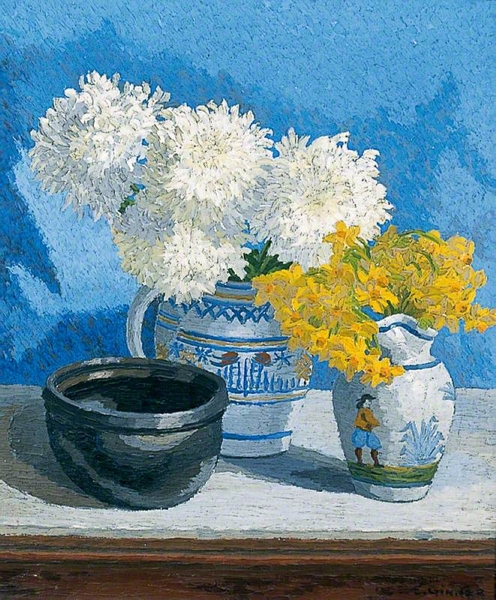 Still Life with Flowers by Charles Ginner