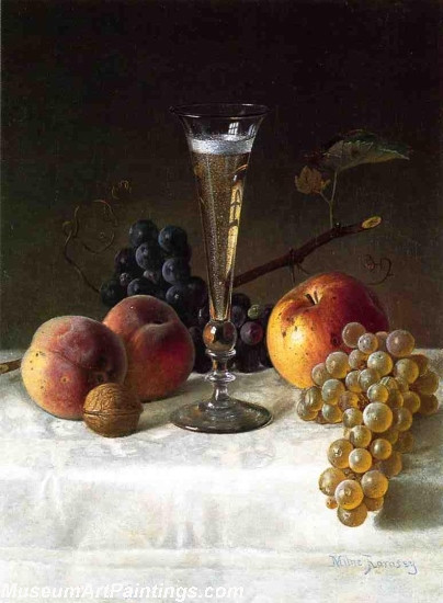 Still Life with Glass of Champagne Painting