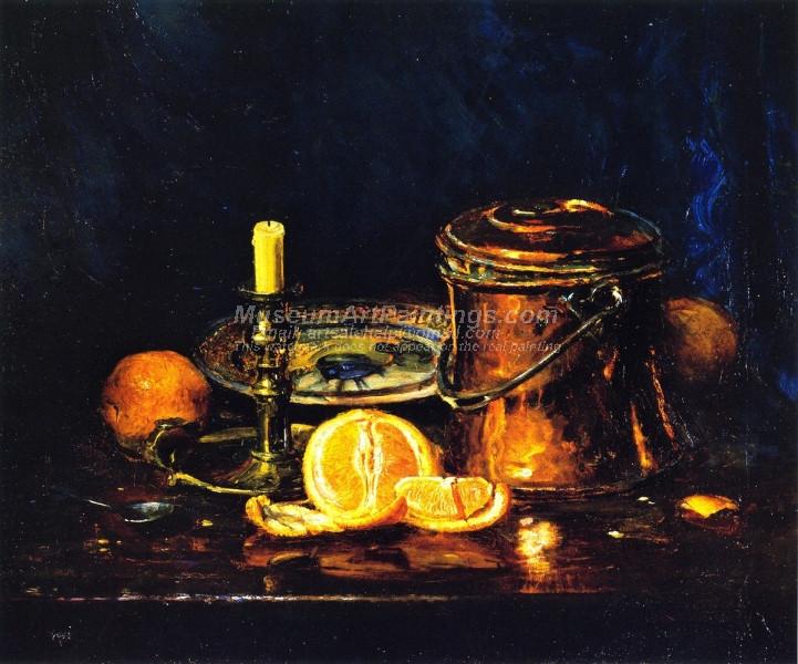 Still Life with Oranges by Joseph Kleitsch