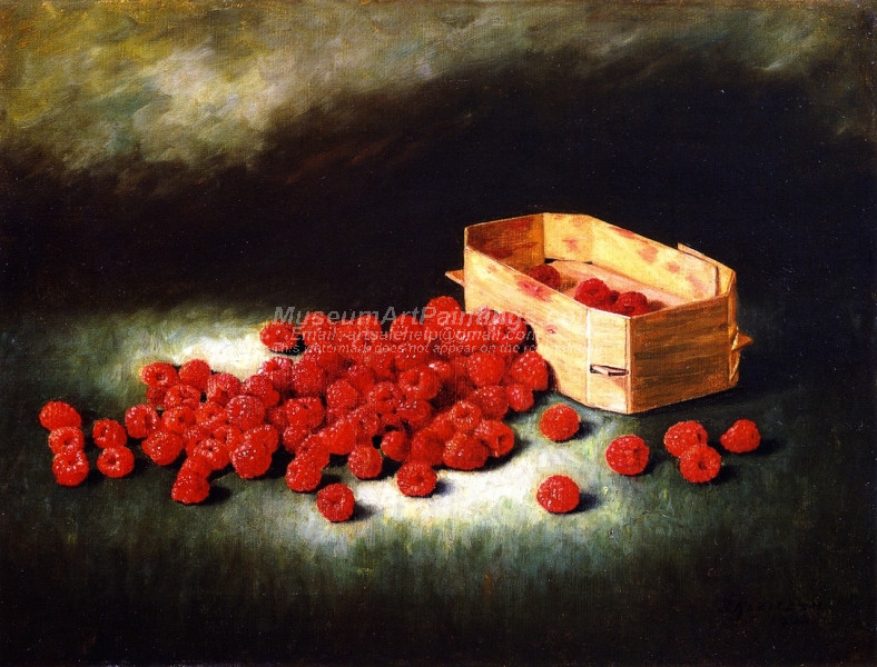 Still Life with Raspberries by Joseph Kleitsch