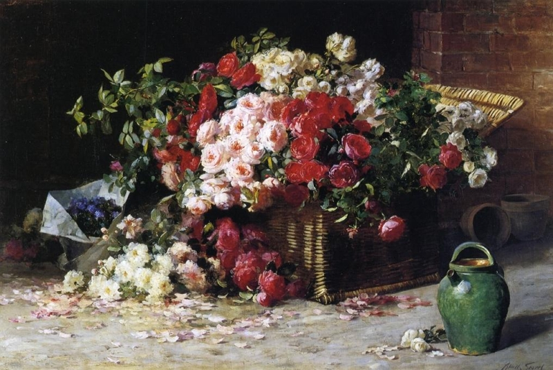 Still Life with Roses 1 by Abbott Fuller Graves