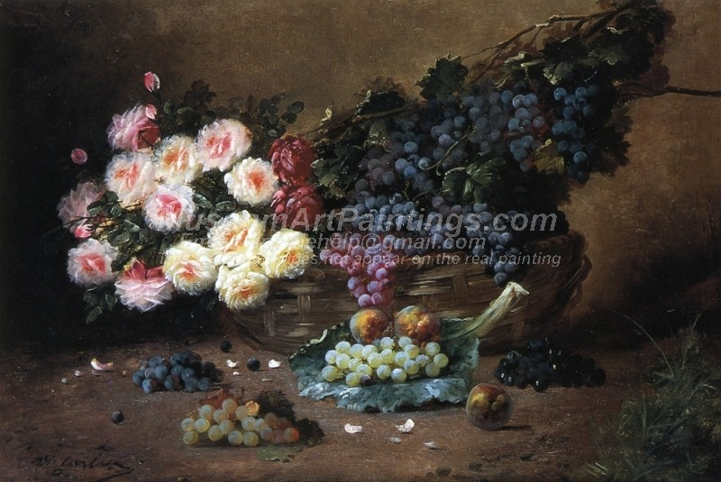 Still Life with Roses and Grapes Painting
