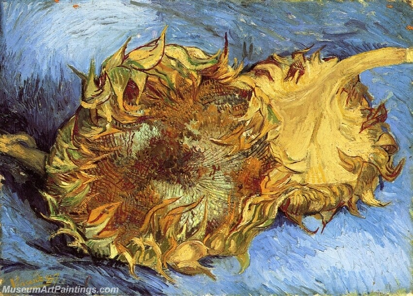 Still Life with Two Sunflowers Painting