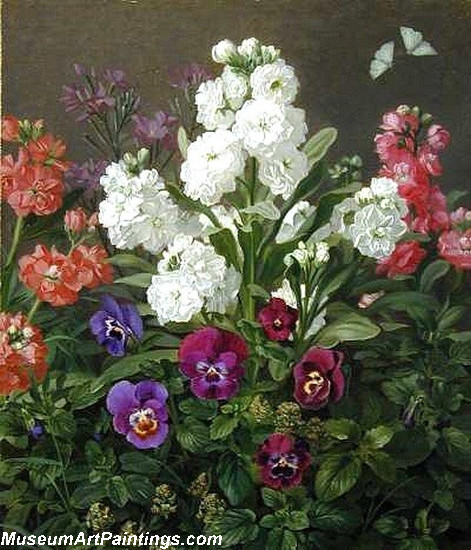 Still life of Phlox and Pansies