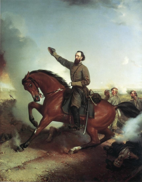 Stonewall Jackson at the Battle of Wiinchester Virginia by Louis Mathieu didier Guillaume