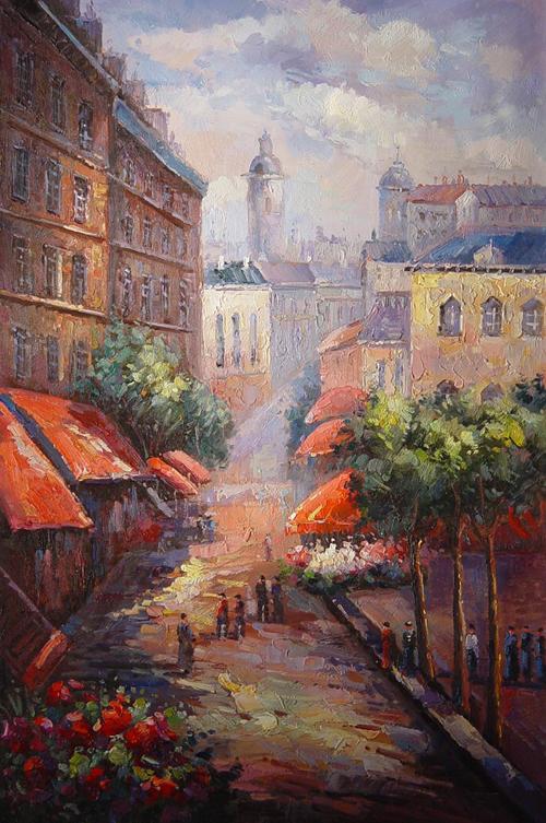 Street Scenery Painting 011