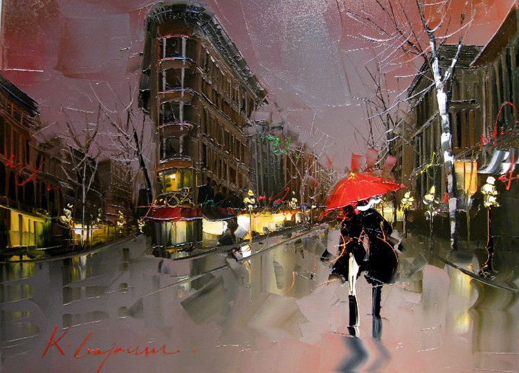 Street Scenery Paintings 021