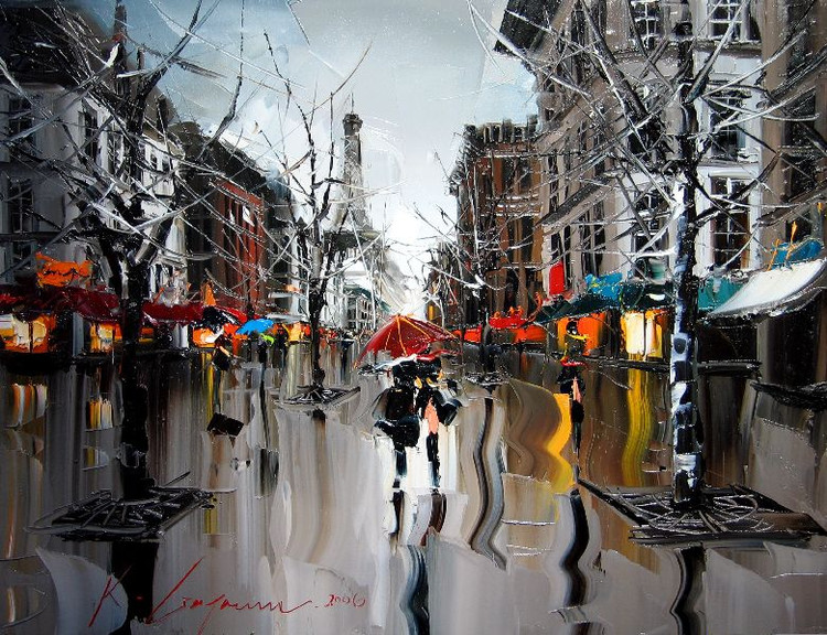 Street Scenery Paintings 022