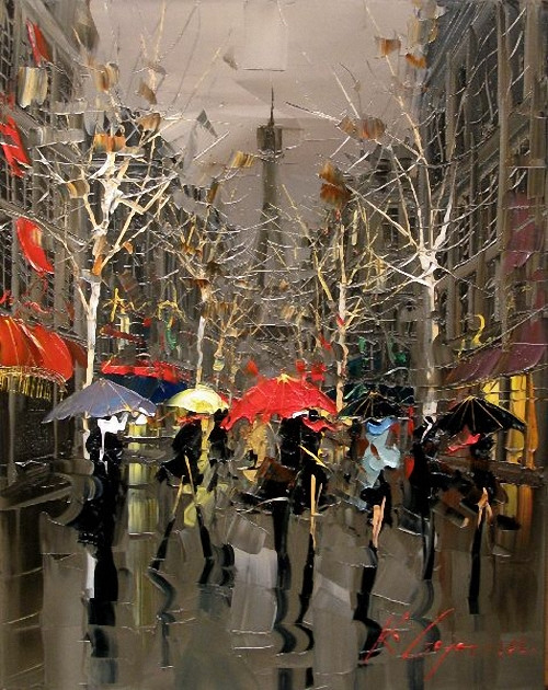 Street Scenery Paintings 028