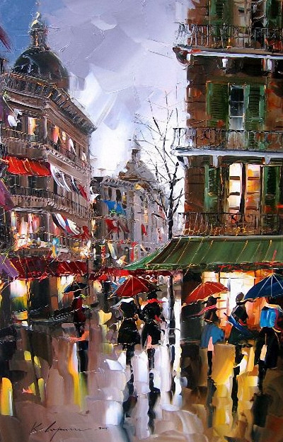 Street Scenery Paintings 029