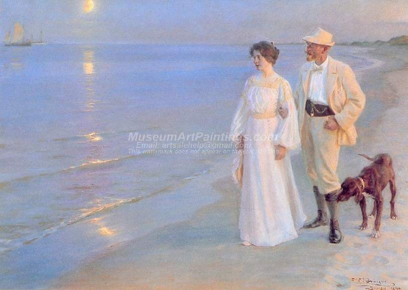 Summer Evening at Skagen by Peder Severin Kroyer