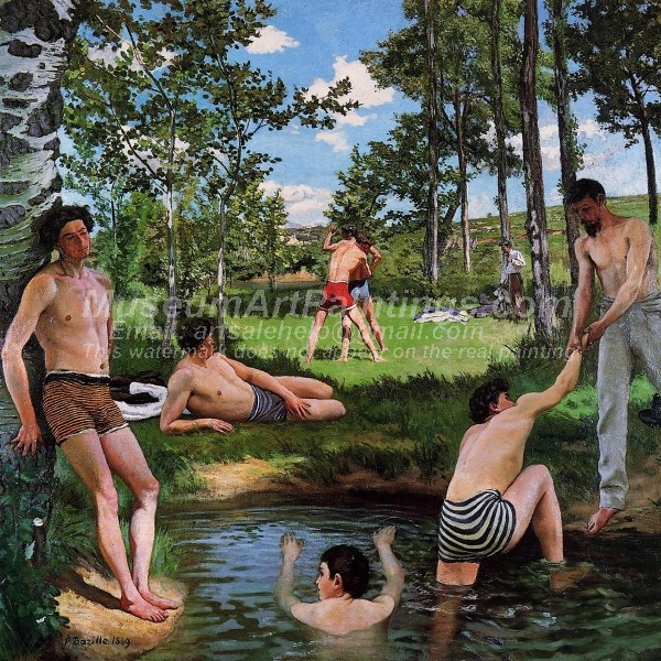 Summer Scene by Jean Frederic Bazille