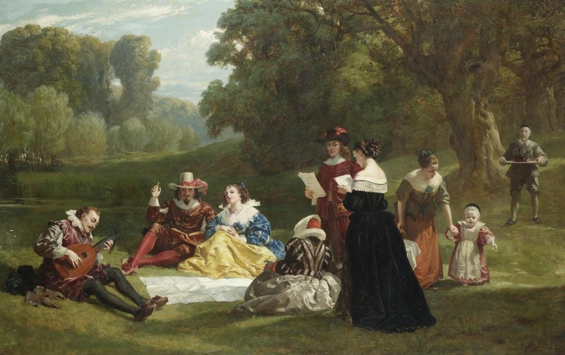 Summer Song To Tinkling Lute by Frederick Goodall