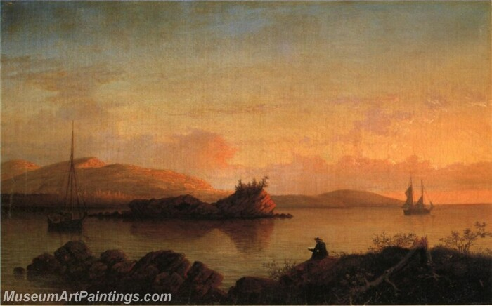 Sunrise on the Maine Coast Mount Desert Island Painting