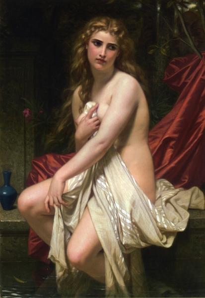 Susannah at Her Bath by Hugues Merle