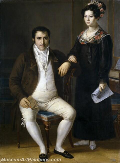 Tegeo Diaz Rafael Pedro Benitez y su hija Maria de la Cruz Painting
