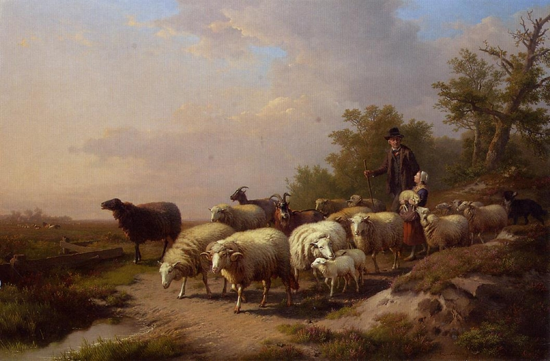 Tending the Flock by Anton Mauve