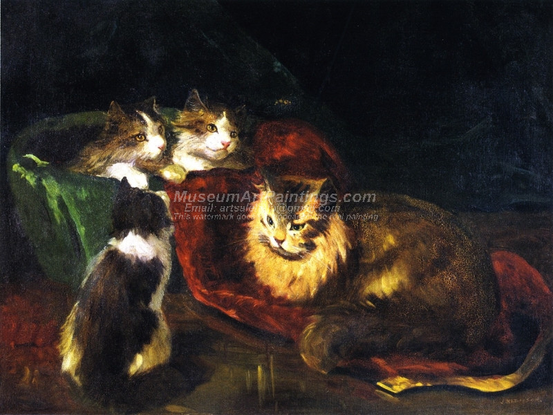 The Angora Cats by Joseph Kleitsch
