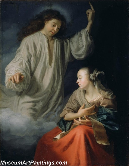The Annunciation Painting by Godfried Schalcken