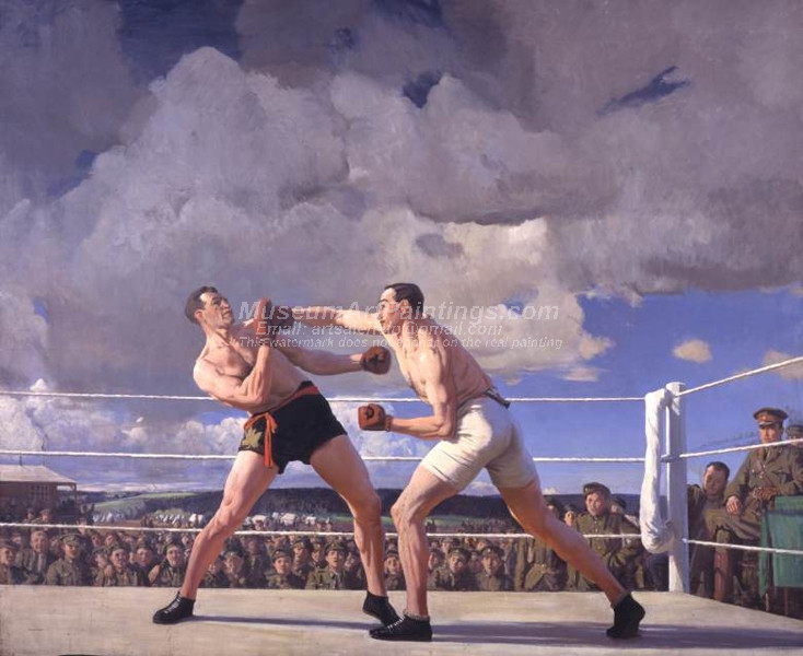 The Army Boxing Match by Laura Knight