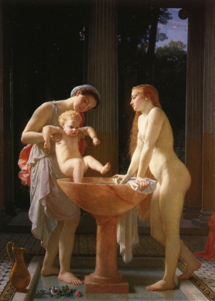 The Bath by Marc Gabriel Charles Gleyre