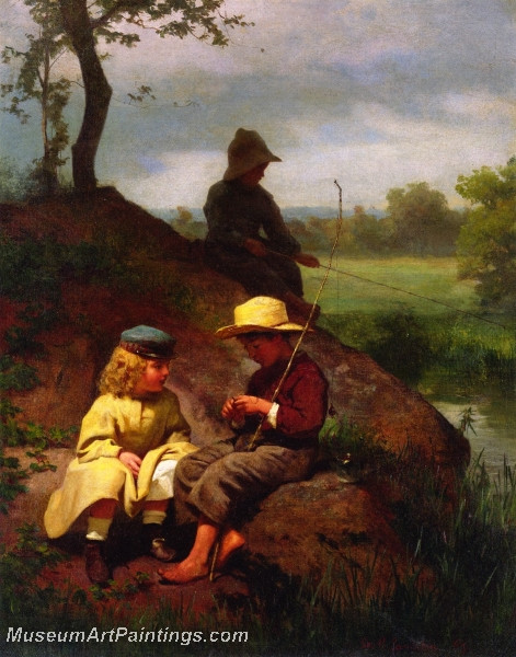 The Biddle Children on the Schuylkill by George Cochran Lambdin