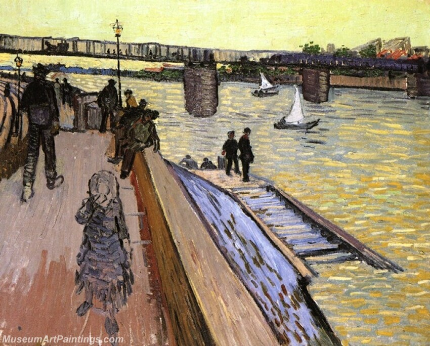The Bridge at Trinquetaille Painting