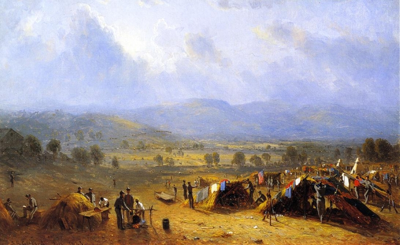 The Camp of the Seventh regiment near Frederick Maryland