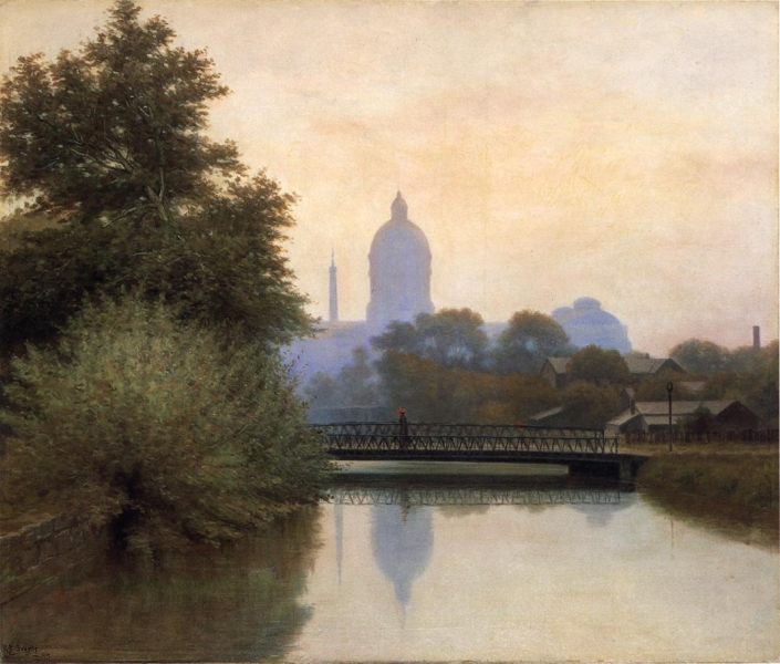 The Canal Early Morning by Richard B Gruelle