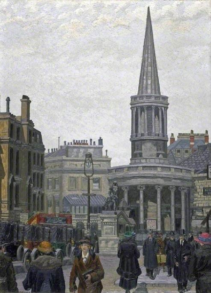 The Church of All Souls Langham Place London by Charles Ginner
