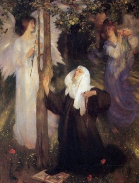 The Cloister or the World by Arthur Hacker