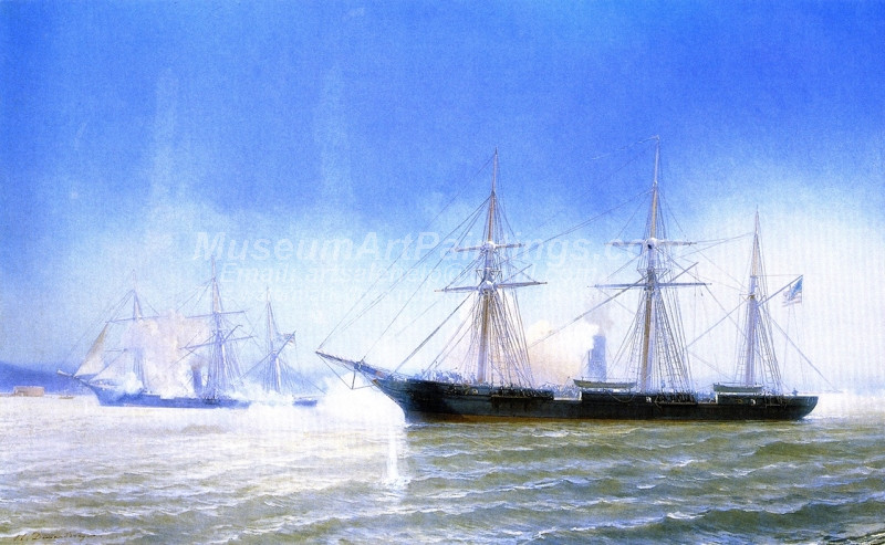 The Confederate Raider Alabama in Action with the USS Kearsarge