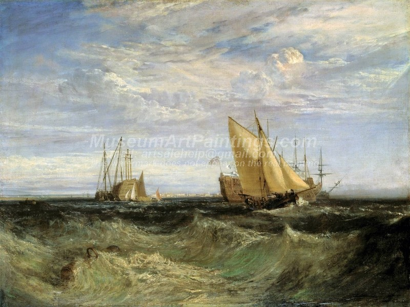 The Confluence of the Thames and the Medway Painting by Joseph Mallord William Turner