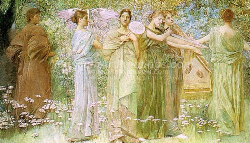 The Days by Thomas Wilmer Dewing