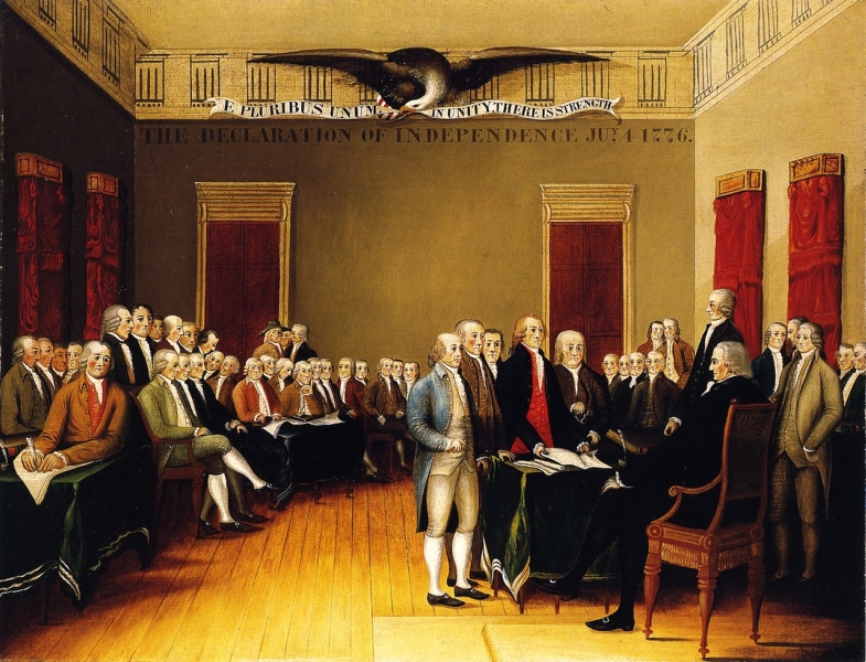 The Declaration of Independence July 4 1776 by Edward Hicks