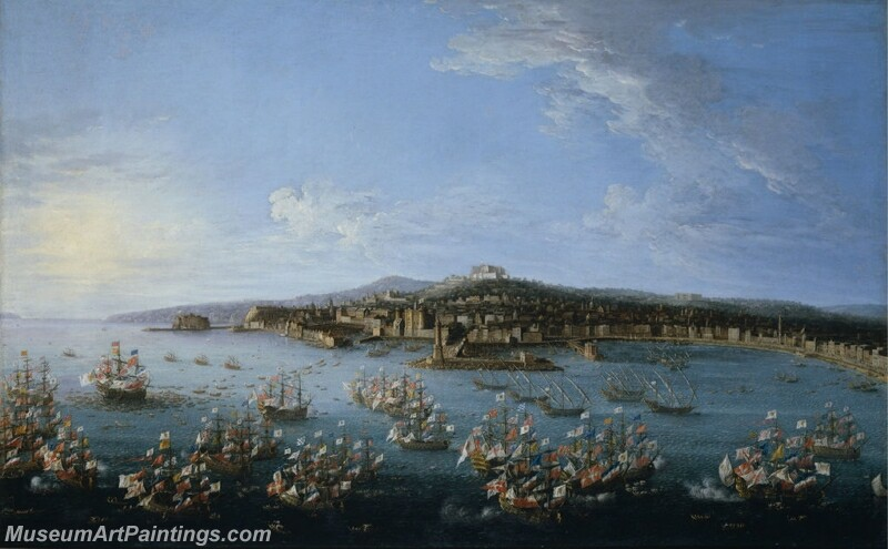 The Departure of Carlos de Borbon of Spain Painting