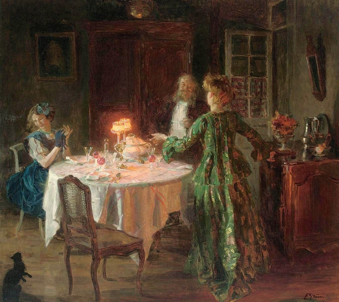 The Dinner Party Jules Alexandre Grun