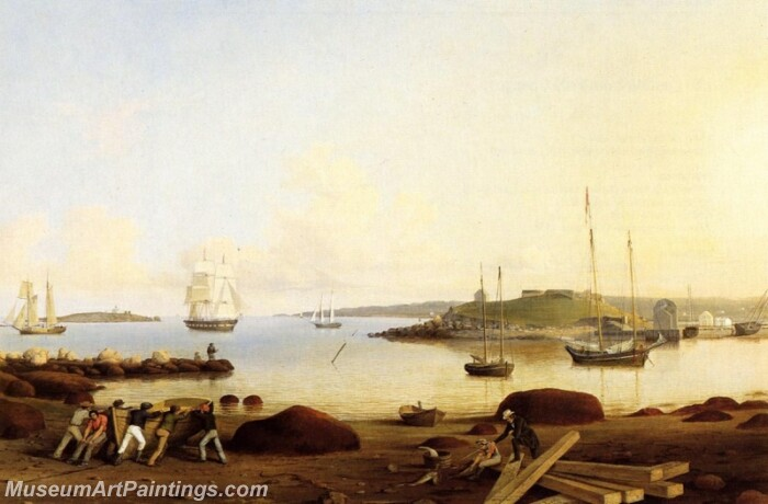 The Fort and Ten Pound Island Gloucester Massachusetts Painting