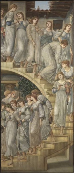 The Golden Stairs by Sir Edward Coley Burne Jones Bt
