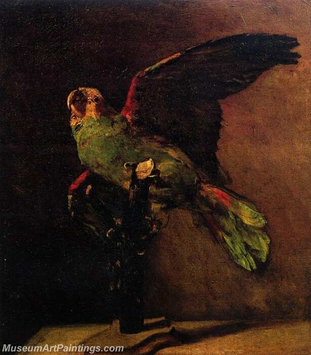 The Green Parrot Painting