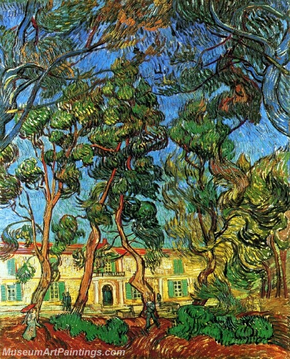 The Grounds of the Asylum Painting